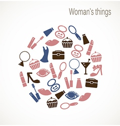 Womans things vector image vector image
