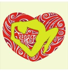 yoga heart vector image