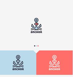 anchor logo design template vector image