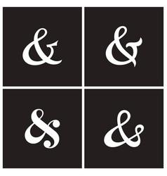 ampersands vector image