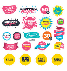 Sale icons best choice price symbols vector