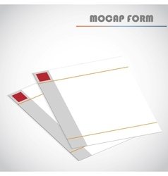 Blank lined paper vector image