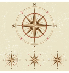 Vintage compases set vector