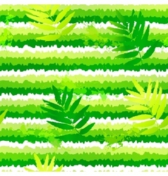 Summer green leaves and painted stripesseamless vector