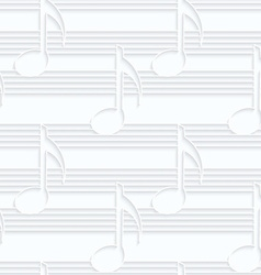 Quilling paper music notes vector