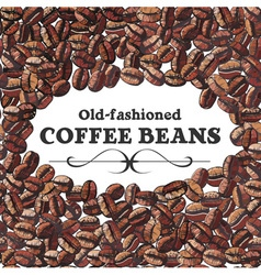 Roasted coffee bean background vector