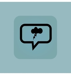 Pale blue thunderstorm message icon vector