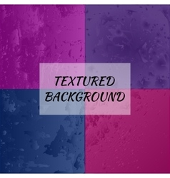 Set of 4 textured backgrounds vector