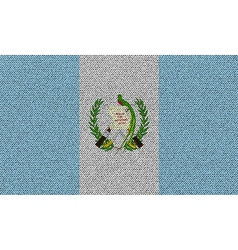 Flags guatemala on denim texture vector