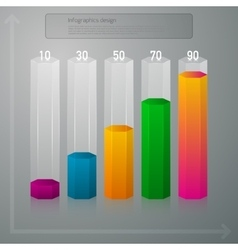 infographics vertical columns vector image