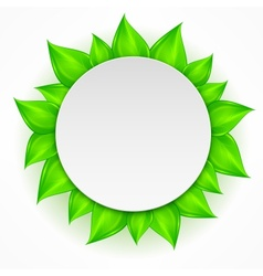 Round leaves icon vector