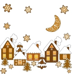 Background with christmas gingerbread vector