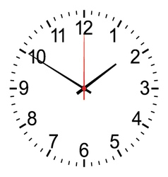 Clock isolated on white vector