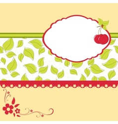 Blank template for cherry greetings card vector
