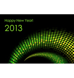 Green happy new year card 2013 vector