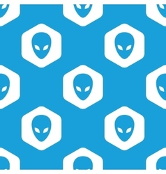 Alien hexagon pattern vector