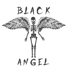 Black angel like a skeleton vector