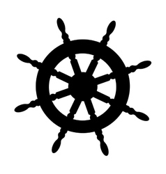 Boat rudder icon image vector