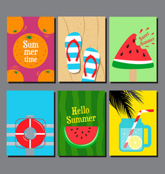 collection of summer seasand water poster vector image