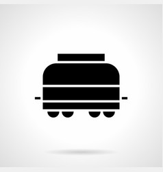 Covered railroad car glyph style icon vector