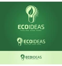 Ecology ideas logotype vector
