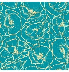 Floral seamless pattern Rose outlines print vector image vector image