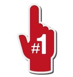 Foam finger icon vector