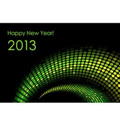 Green happy new year card 2013 vector