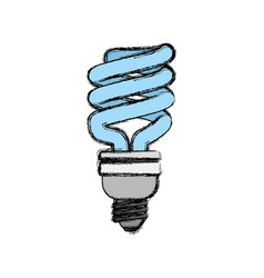 light bulb electric fluorescent vector image vector image