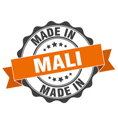 made in mali round seal vector image