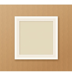 Paper frame on the cardboard background vector