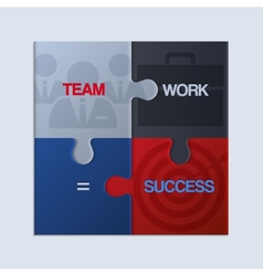 Pieces of jigsaw puzzle showing business equation vector image vector image