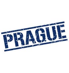 Prague blue square stamp vector