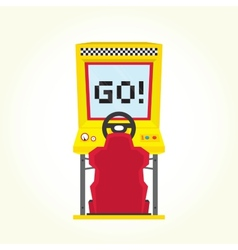 Racing game arcade machine vector image