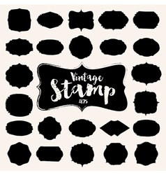 Set of black vintage Stamp Blank frame vector image vector image