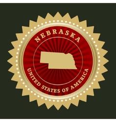 Star label nebraska vector