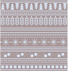 Striped geometric ornament Seamless winter pattern vector image vector image