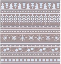Striped geometric ornament seamless winter pattern vector
