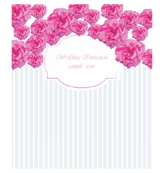 Watercolor frame with blooming pink roses vector