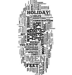Your holiday gift guide for men text word cloud vector