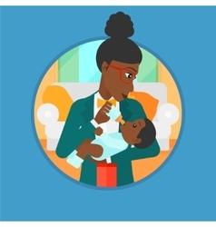 Mother feeding baby vector image