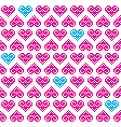 Heart pink seamless background pattern vector image