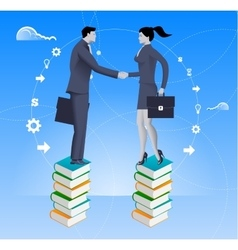 Partnership based on knowledge business concept vector