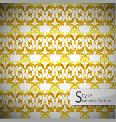 Mesh gold vintage geometric seamless pattern vector