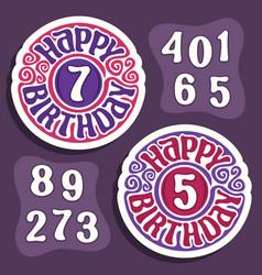 Logo for happy birthday vector