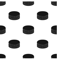 Chocolate biscuit icon in black style isolated on vector