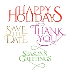 Holiday letterings vector