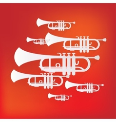 Music wind instruments icon vector