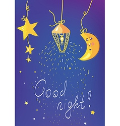 Good night banner and card vector