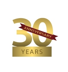 30 years anniversary vector image